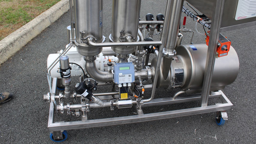 Filtration tangentielle raccordement et dosage produits